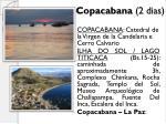 copacabana 2 dias