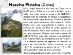 macchu pittchu 2 dias