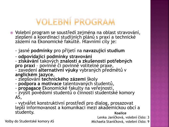 Volebn program