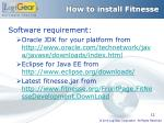 how to install fitnesse
