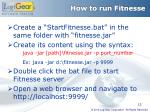 how to run fitnesse