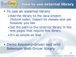 how to use external library
