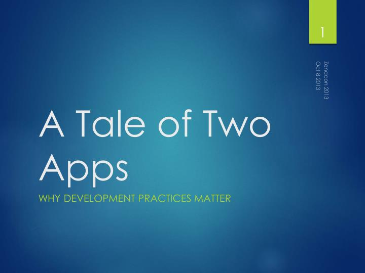 a tale of two apps n.