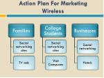 action plan for marketing wireless