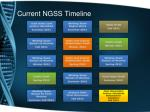 current ngss timeline