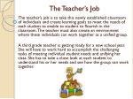 the teacher s job