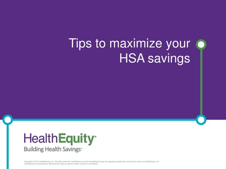 tips to maximize your hsa savings n.