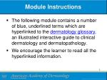 module instructions