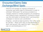 encounter claims data exchange blind spots