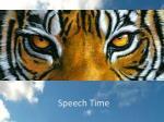 speech time