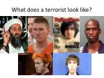 what does a terrorist look like