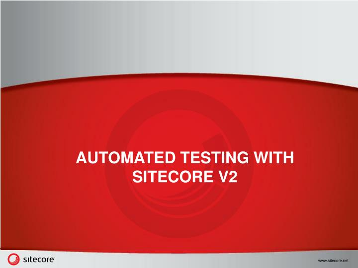 automated testing with sitecore v2 n.
