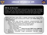 landasan implementasi mpn