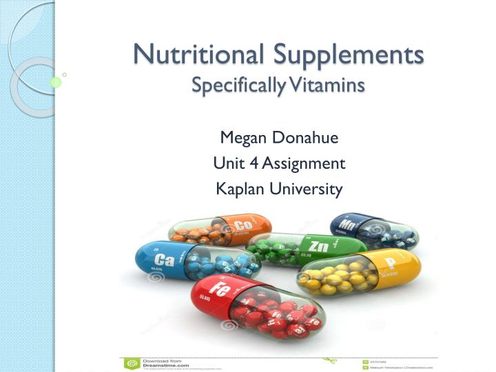 nutritional supplements specifically vitamins n.