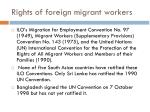 rights of foreign migrant workers