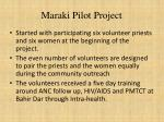 maraki pilot project