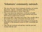 volunteers community outreach