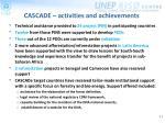 cascade activities and achievements