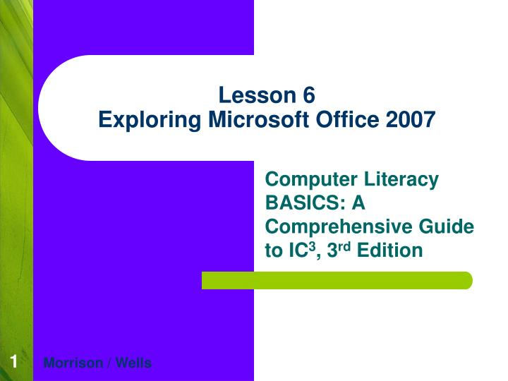 lesson 6 exploring microsoft office 2007 n.