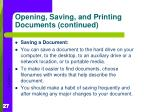 opening saving and printing documents continued3