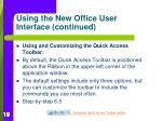 using the new office user interface continued3