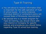 type iii training