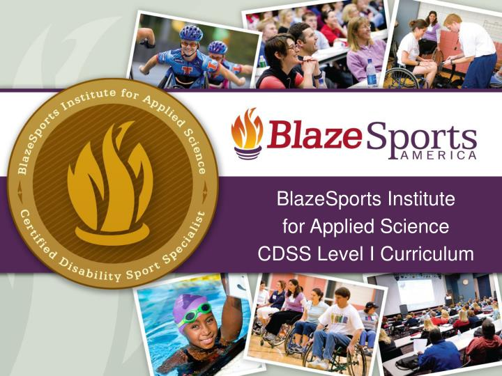 blazesports institute for applied science cdss level i curriculum n.