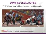 coaches legal duties13