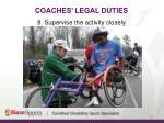 coaches legal duties15