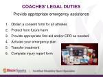 coaches legal duties18