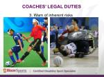 coaches legal duties5