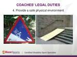 coaches legal duties7