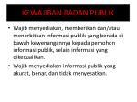 kewajiban badan publik
