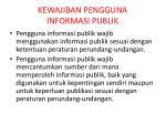 kewajiban pengguna informasi publik