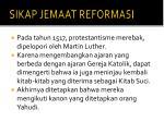 sikap jemaat reformasi