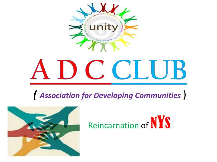 a d c club association for developing communities n.
