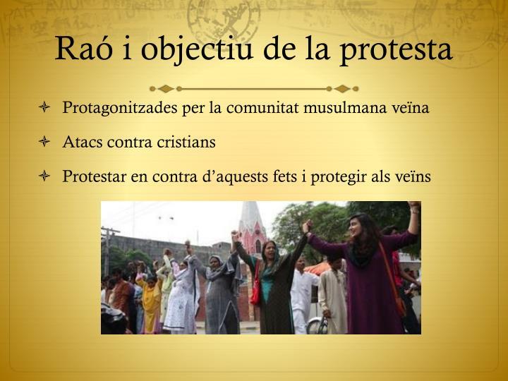 Raó i objectiu de la protesta