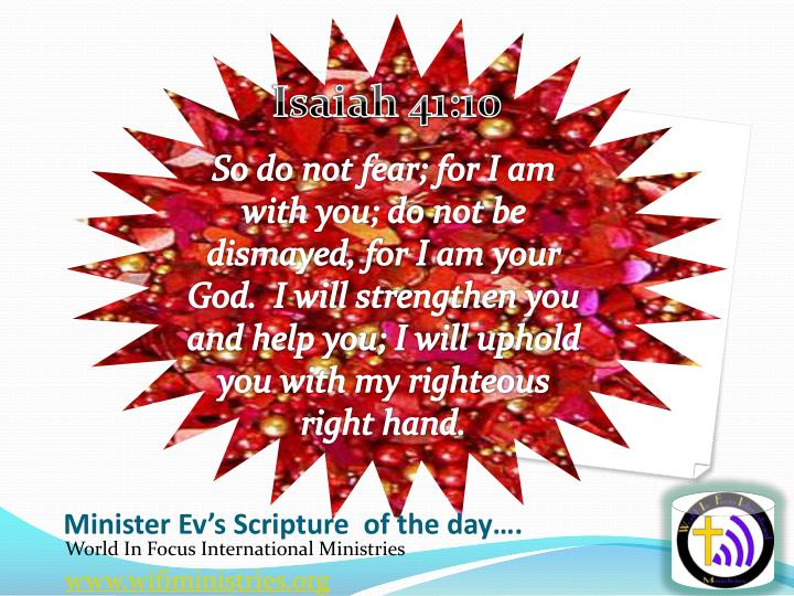 minister ev s scripture of the day n.