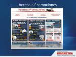 acceso a promociones