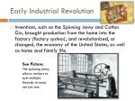 early industrial revolution
