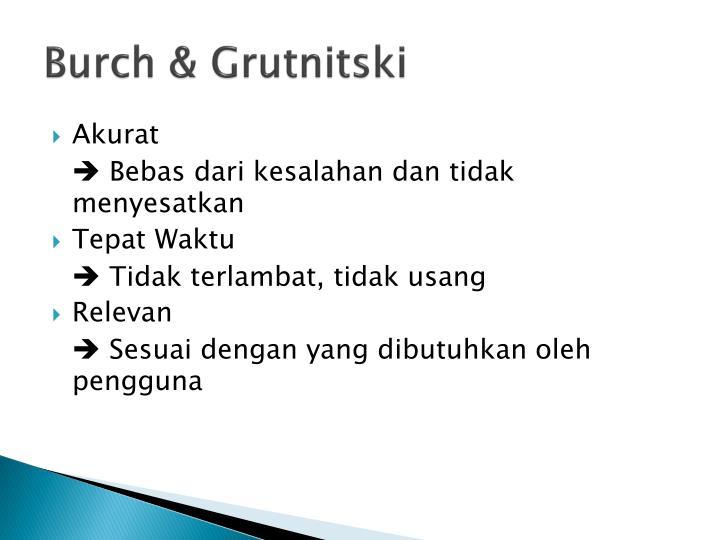 Burch & Grutnitski