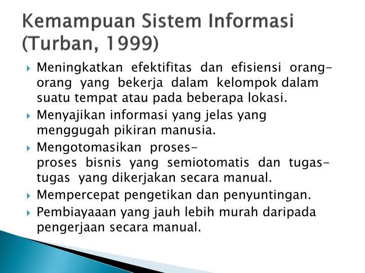 Kemampuan Sistem Informasi