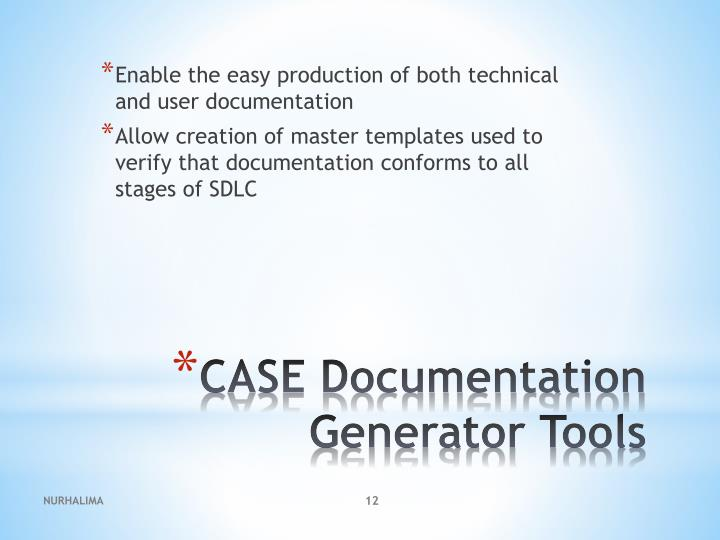 Enable the easy production of both technical and user documentation