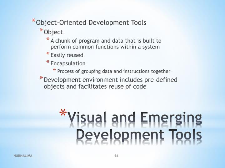 Object-Oriented Development Tools