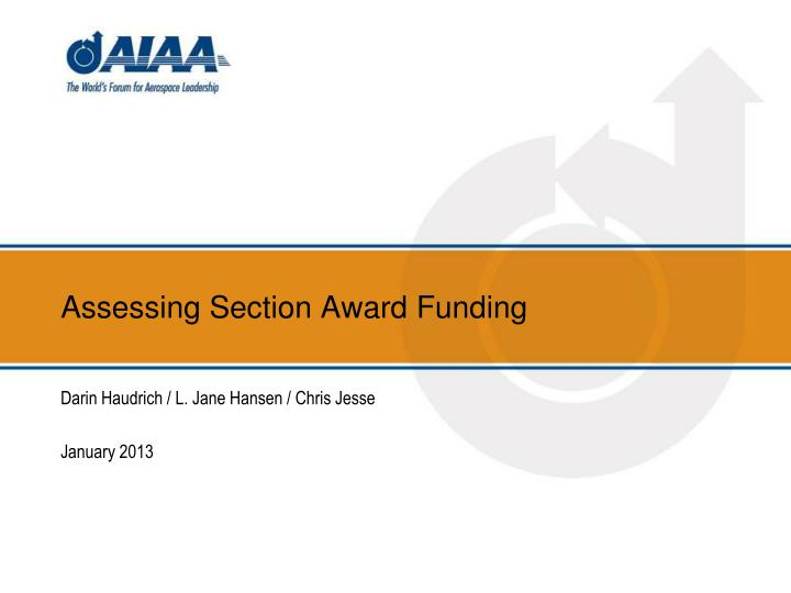 assessing section award funding n.