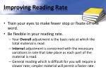 improving reading rate