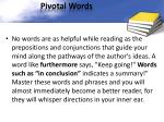 pivotal words