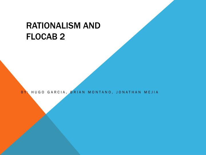 rationalism and flocab 2 n.