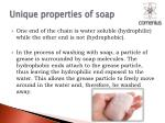 unique properties of soap