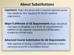 about substitutions